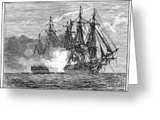 Naval Battle, 1813 Greeting Card
