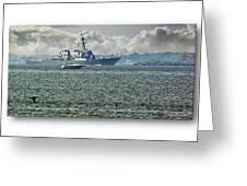 Naval Ship Greeting Card