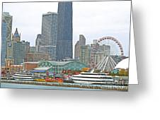 Navy Pier And Vicinity Greeting Card
