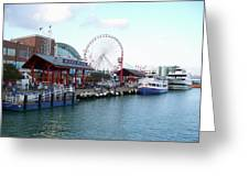 Navy Pier Chicago Summer Time Greeting Card