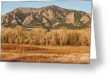 Ncar And Flatiron View Boulder Colorado   Greeting Card