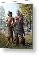 Neanderthals, Artwork Greeting Card