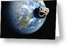 Near-earth Asteroids, Artwork Greeting Card by Detlev Van Ravenswaay