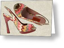 Needlepoint Peep Toes Greeting Card
