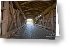Neet Covered Bridge Interior Greeting Card