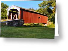Neff's Mill Covered Bridge In Lancaster County Pa. Greeting Card