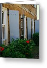 Nelson's Dockyard Street Scene Greeting Card