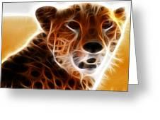 Neon Cheeta Greeting Card