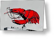 Neon Crawfish On Hwy 61 Baton Rouge Greeting Card