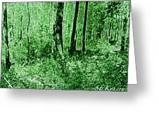 Neon Forest Greeting Card