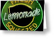 Neon Lemonade Greeting Card