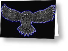 Neon Owl Greeting Card