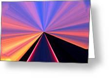 Neon Pinnacle Greeting Card