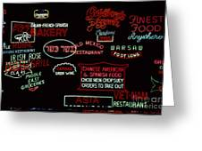 Neon Signs, 1937-1971 Greeting Card by Granger