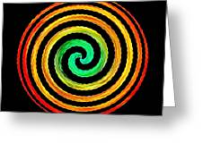 Neon Spiral Greeting Card