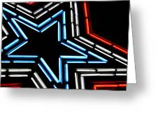 Neon Star Greeting Card