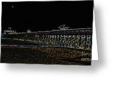 Neoned Pier Greeting Card