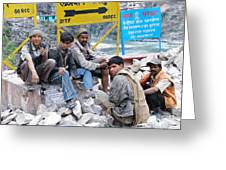 Nepali Labourers At Devraprayag Greeting Card
