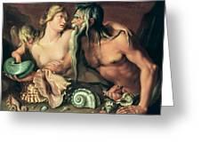 Neptune And Amphitrite Greeting Card by Jacob II de Gheyn