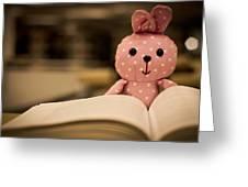 Nerd Rabbit Greeting Card