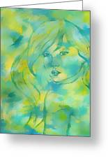 Nerissa  Daughter Of The Sea Greeting Card