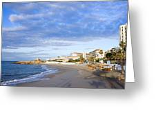 Nerja Beach On Costa Del Sol Greeting Card