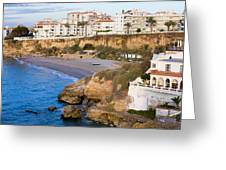 Nerja Town On Costa Del Sol Greeting Card