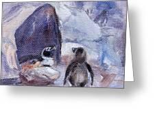 Nesting Penguins Greeting Card