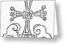 Nestorian Cross, 781 A.d Greeting Card