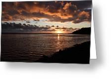 Netart's Bay Sunset 1 Greeting Card