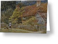 Netley Farm Shere Surrey Greeting Card