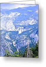Nevada And Vernal Falls Greeting Card