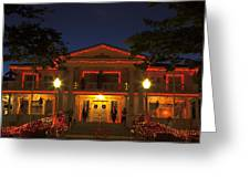 Nevada Governors Haunted Halloween Mansion Greeting Card