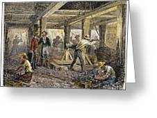 Nevada Silver Mine, C1880 Greeting Card