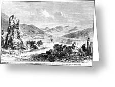 Nevada: Washoe Region, 1862 Greeting Card