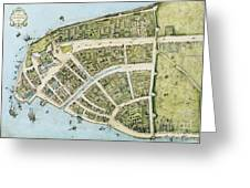 New Amsterdam Greeting Card by Pg Reproductions