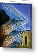 New And Old Building Greeting Card
