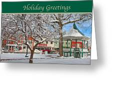 New England Christmas Greeting Card by Joann Vitali