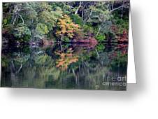New England Fall Reflection Greeting Card
