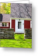 New England Farmhouse Greeting Card