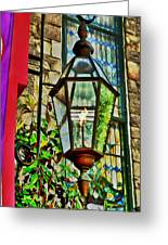 New Hope Gas Street Light Digital Painting Greeting Card