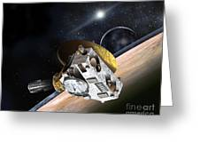 New Horizons Spacecraft At Pluto Greeting Card