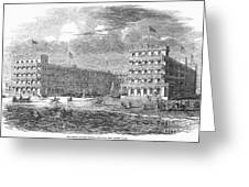 New Jersey Hotel, 1853 Greeting Card