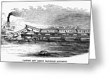 New Jersey: Train Wreck Greeting Card