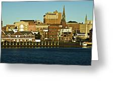 New London Waterfront Greeting Card