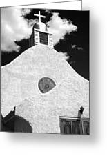 New Mexico Church Greeting Card by Sonja Quintero