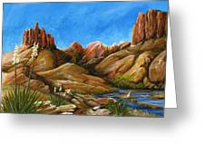 New Mexico Highlands In Spring Greeting Card