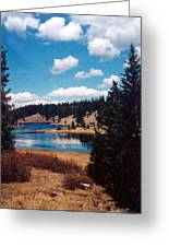 New Mexico Lake Greeting Card by Linda Pope