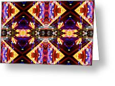 New Mexico Neon Greeting Card by Glennis Siverson