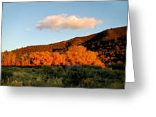 New Mexico Series - Cloud Over Autumn Greeting Card
